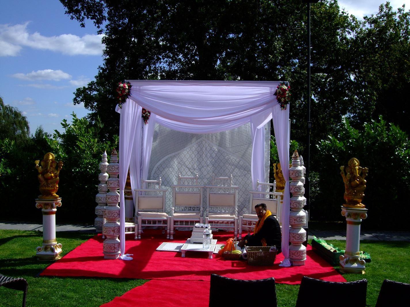 Outdoor Wedding By Midland Mandaps