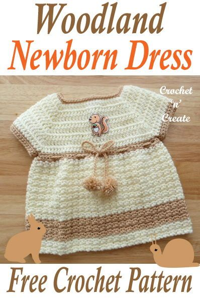 Woodland Baby Dress Free Crochet Pattern Free Crochet Patterns