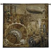 Found it at Wayfair - Steampunk BW Wall Hanging, $180, Love the turn of the century tone....  51x53.