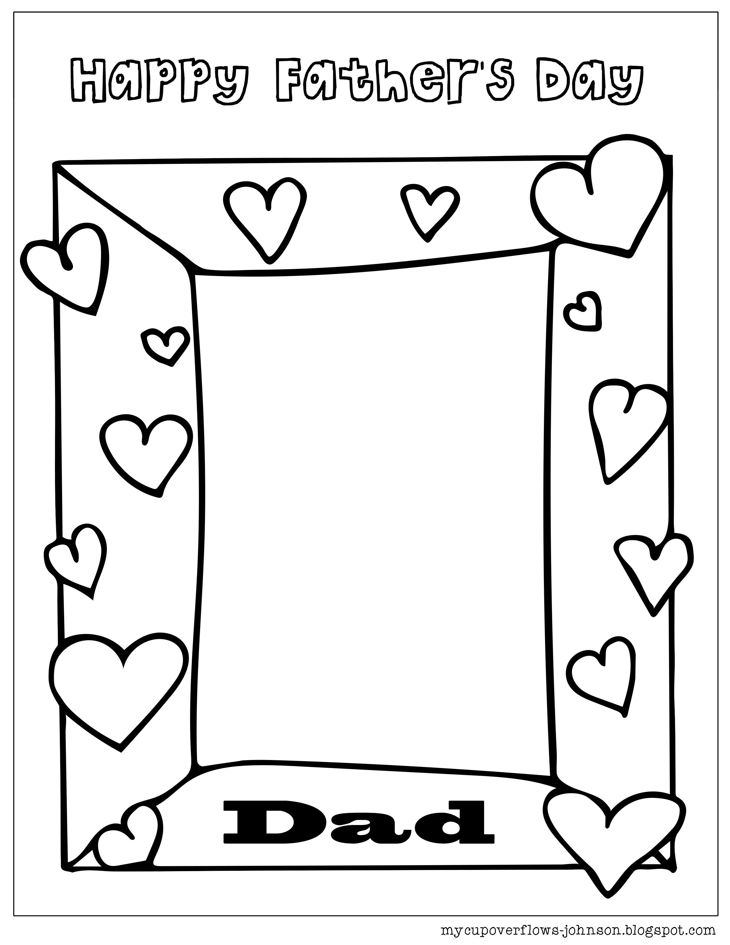 Father S Day Coloring Pages Fathers Day Coloring Page Fathers Day Art Father S Day Printable
