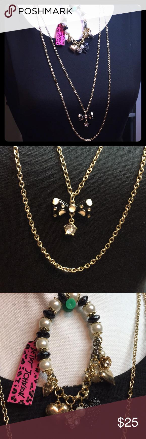 SALE!NWT Betsey Johnson Necklace and Bracelet Set! NWT ...