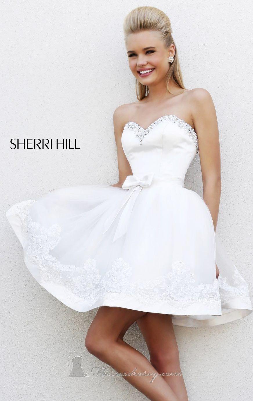Short sweetheart by sherri hill for Sherri hill short wedding dress