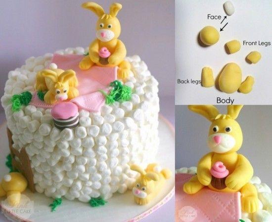 Marshmallow Bunny Cake