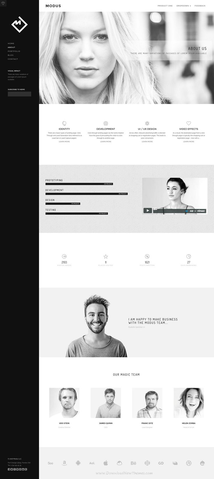 Modus - Agency Portfolio HTML | Website themes, Portfolio website ...