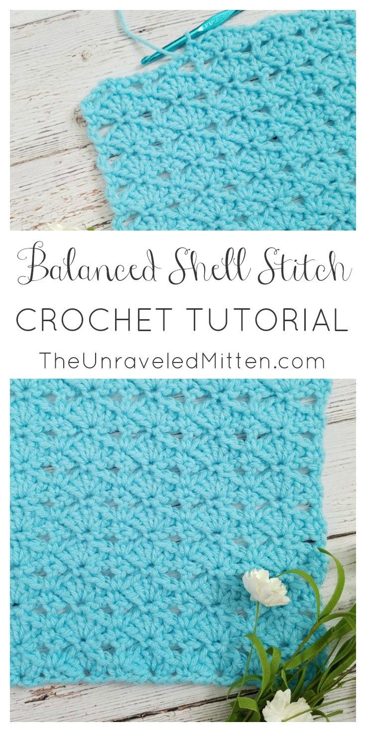 Balanced Shell Stitch Crochet Tutorial   The Unraveled Mitten