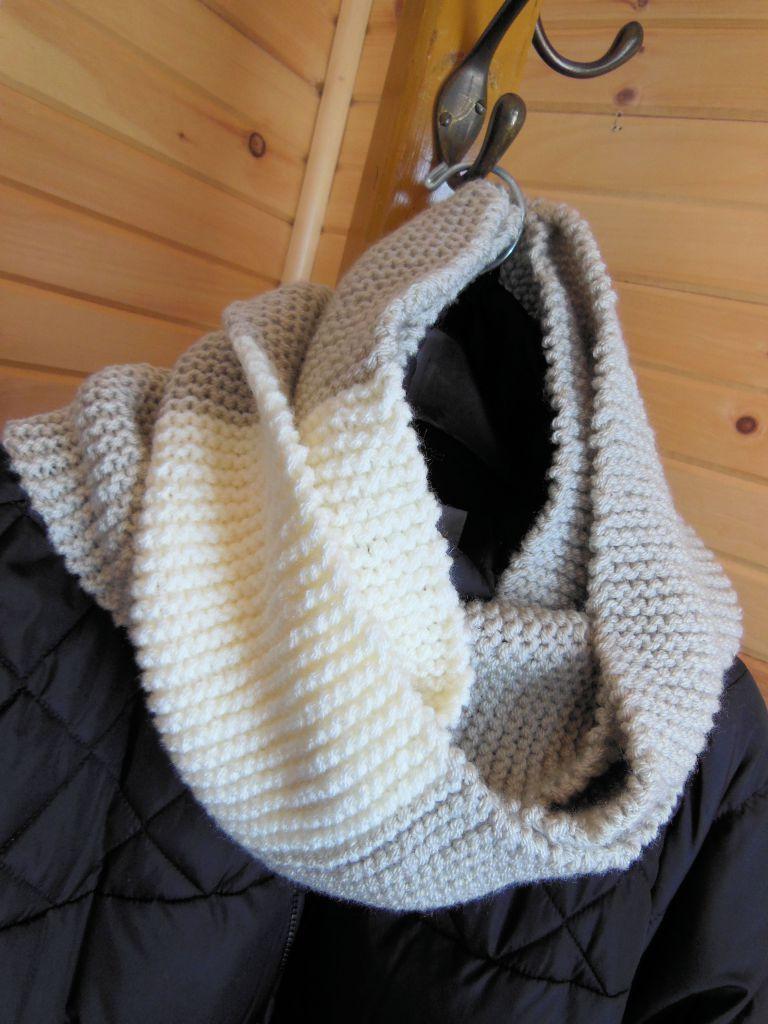 Infinity Scarf Knitting Pattern Garter Stitch : Garter Stitch Infinity Scarf pattern at www ...