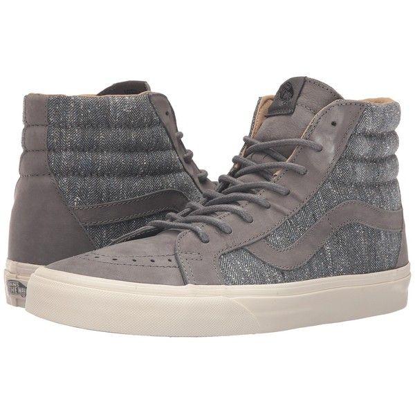 44a6efd92e8f Vans Sk8-Hi Reissue DX ((Tweed) Gray) Men s Skate Shoes ( 85) ❤ liked on…