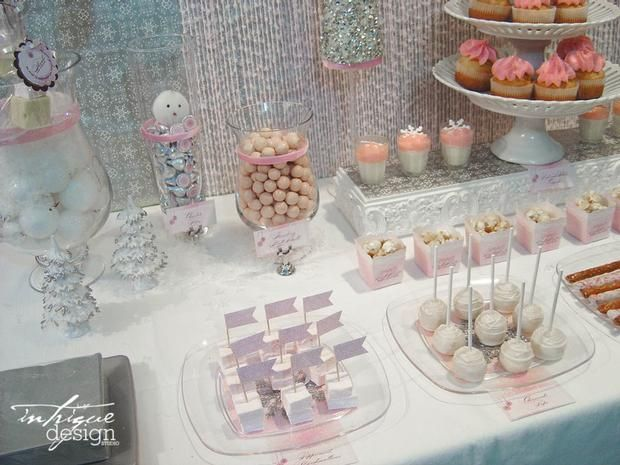 winter pink and silver baby shower baby showers