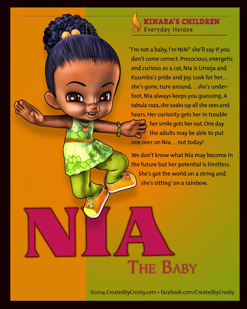 Nia: Kwanzaa day 6 facebook.com/CreatedbyCrosby | The ...