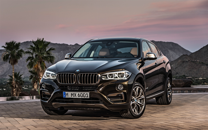 Download Wallpapers Bmw X6 2018 4k Sports Suv Luxury Cars Black