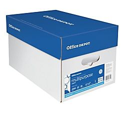 Multi Use Paper Ledger Size 11 X 17 96 U S Brightness 20 Lb Ream Of 500 Sheets Case Of 5 Reams Item 940643 Office Depot Depot Letter Size Paper