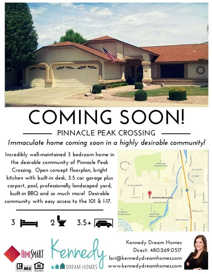 Coming Soon In North Phoenix Az Great Home Just Miles From Usaa Headquarters Two Major Freeways Lots Of S Built In Bbq Phoenix Real Estate Bright Kitchens