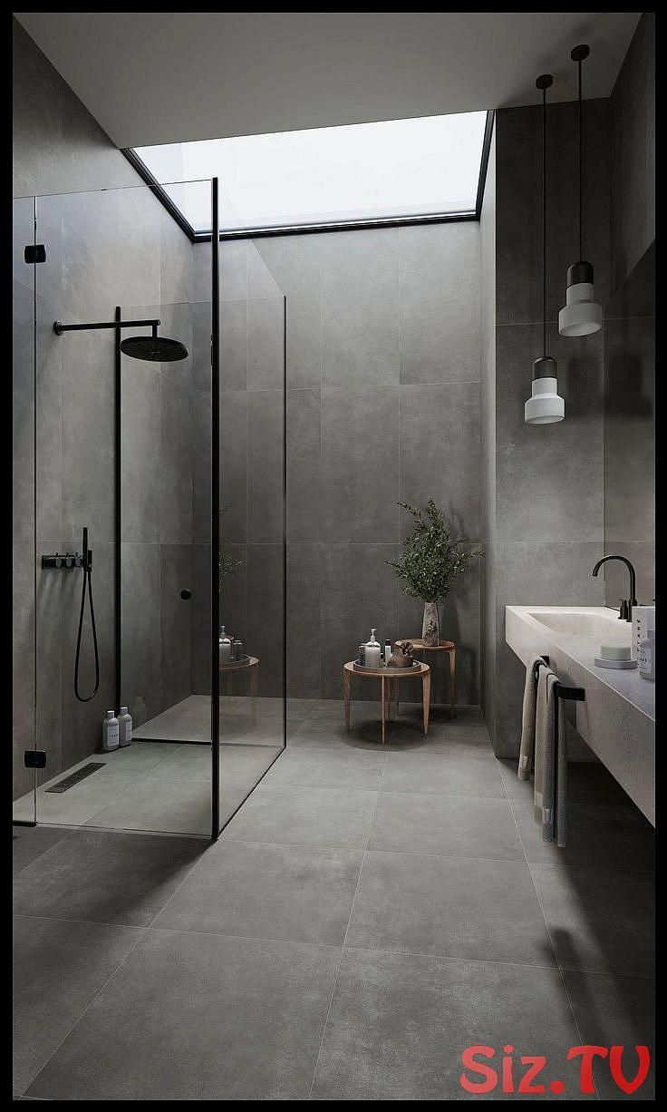 Photo of Bodenfliesen 120×120 cm A23 Lux Anthrazit #modernbathroom,  #120×120 #A23 #anthrazit #badezim…