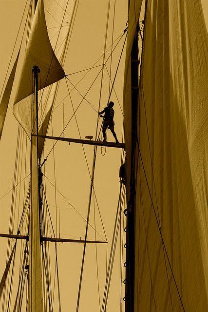 Dans les voiles d'Elena. Saint-Tropez. Among Elena's sails Jean-Phi Deb