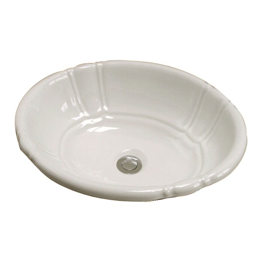 Barclay Lisbon Bisque Ceramic Drop In Oval Bathroom Sink With