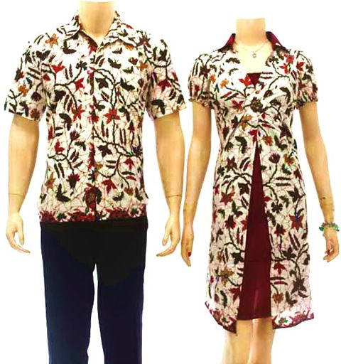 Baju Batik Sarimbit Modern Putih Cantik Sb06 Di Sekarbatik