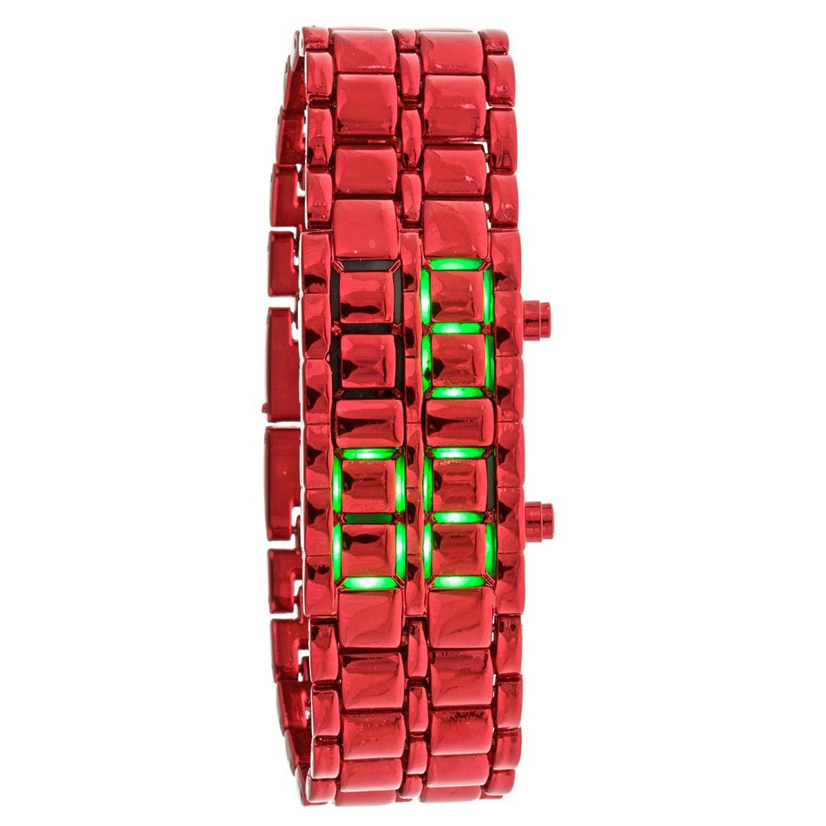 Bar Watch by Crow Watches conceals an intricate LED system that becomes visible at the touch of a button.