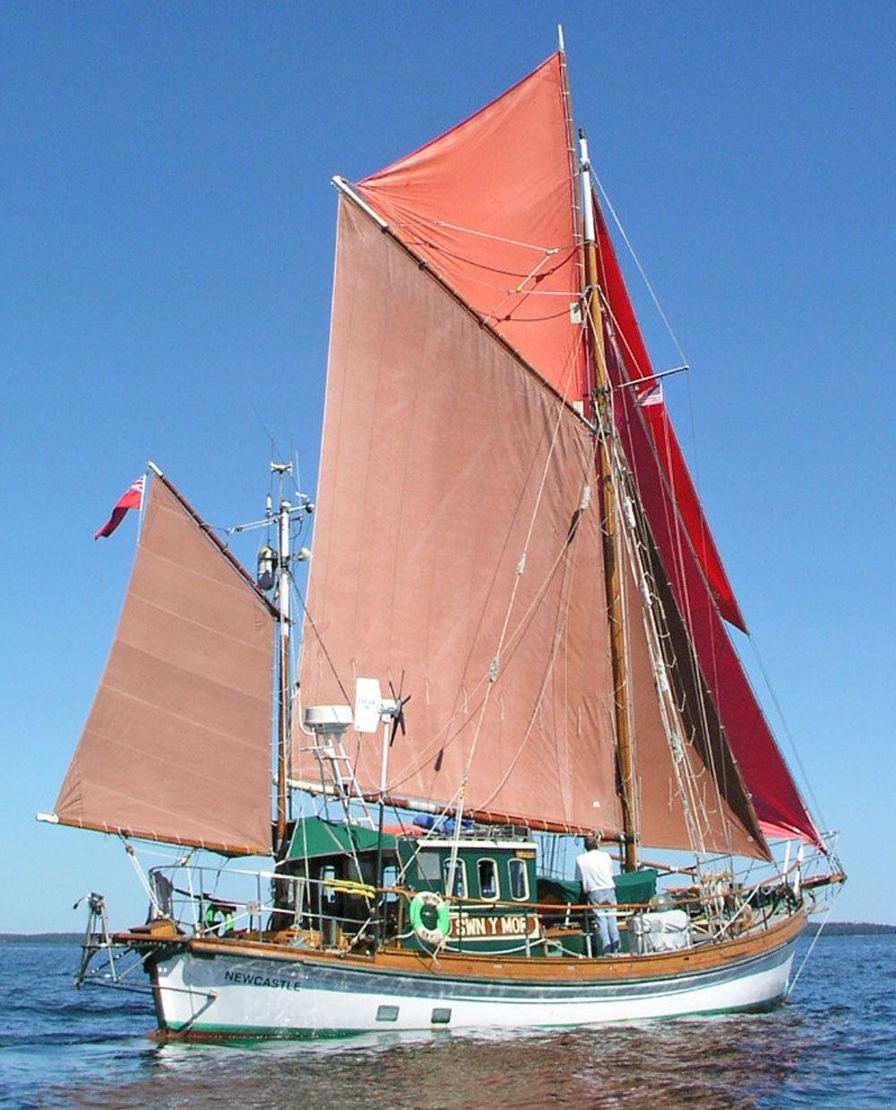 Motor sailer boat plans for 68 garden design gaff rigged schooner