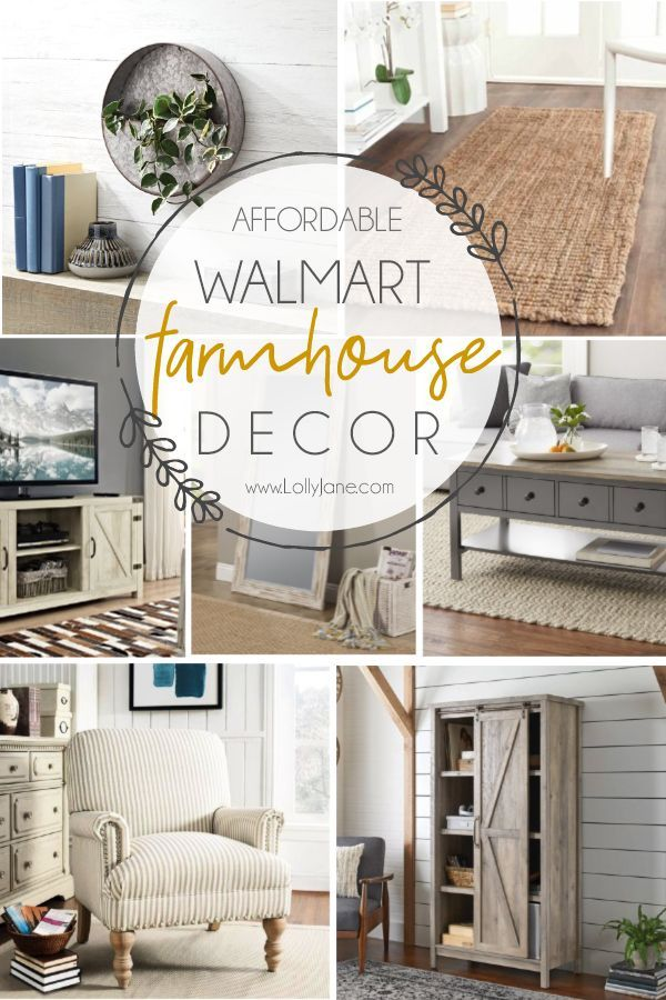 AHH! Can you believe all these gorgeous farmhouse pieces are from Walmart!? Love this…