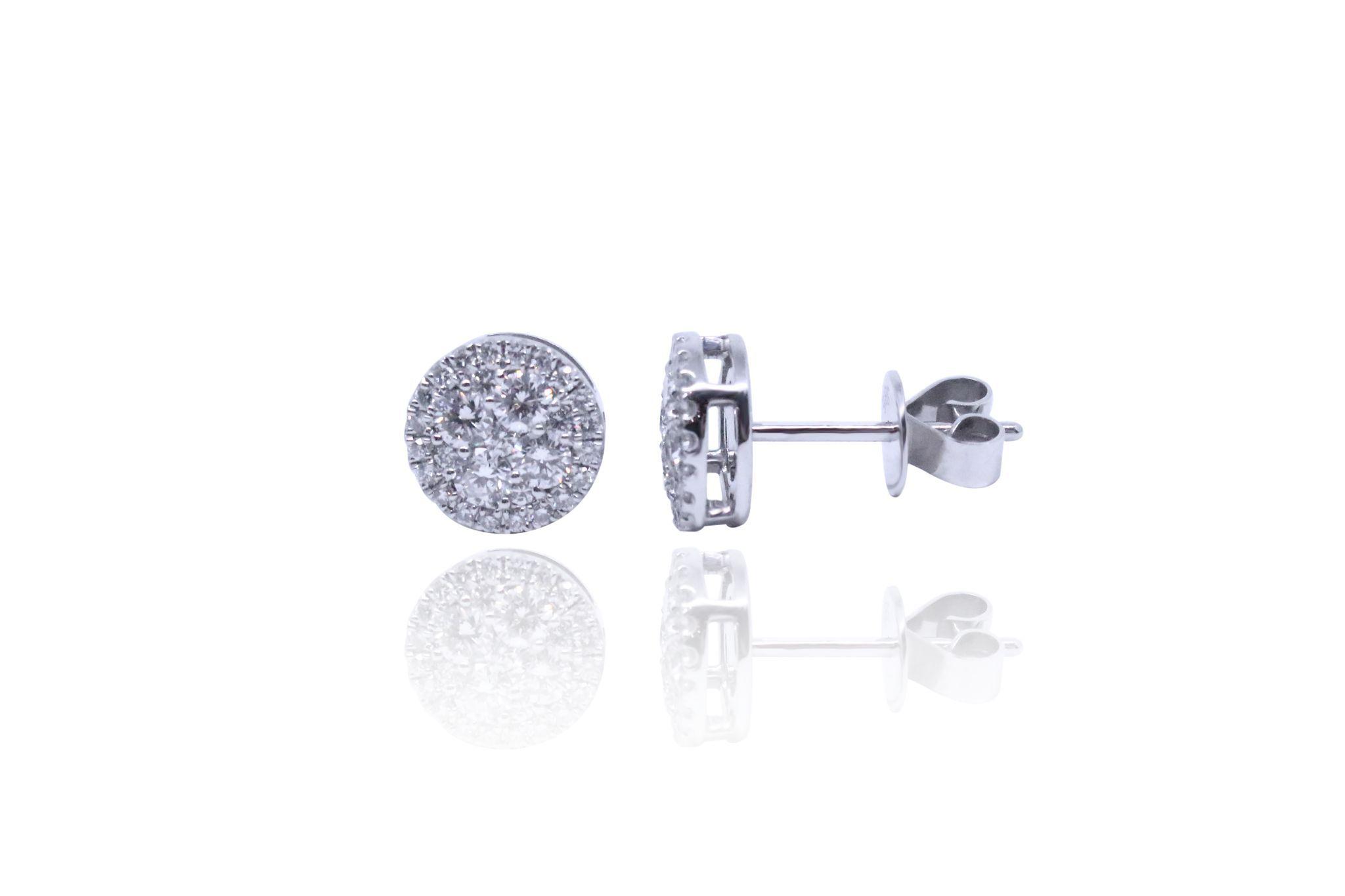 Pave Diamond Ear Studs