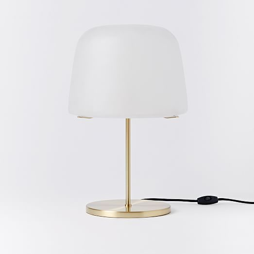 Pelle table lamp mushroom shade
