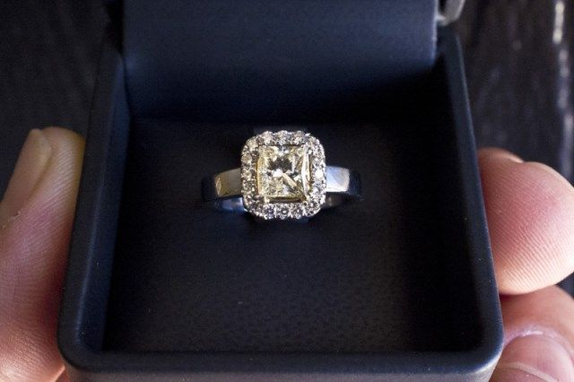 have you seen the ring 102ct light fancy yellow diamond engagement ring - Preowned Wedding Rings