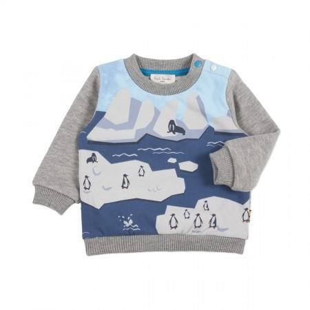 Paul Smith Junior - Baby Boys' Grey Arctic Print Sweater