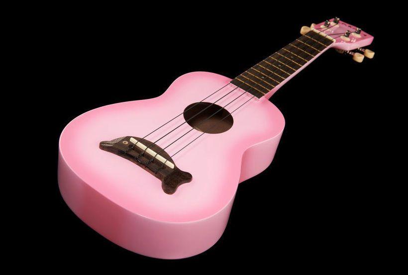 Kala Makala Dolphin Pink - Thomann  www.thomann.de Colour: pink #pink #flamingo #ukulele #pretty #guitar #small #girls