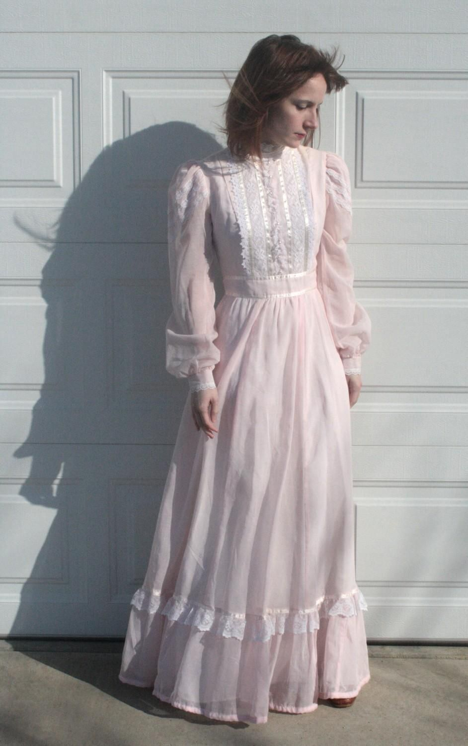 THIS was my prom dress in 1982! Pink Gunne Sax Prairie Dress. Just ...