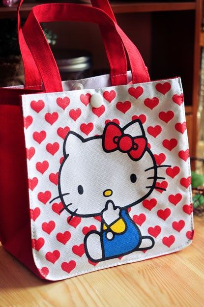 Hello Kitty Lunch Box Bag Thermal Cooler Bags Food Container