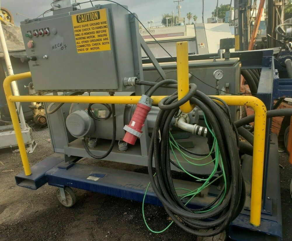 50 HP HYDRAULIC PUMPING SYSTEM WITH CONTROLS AND HYDAC
