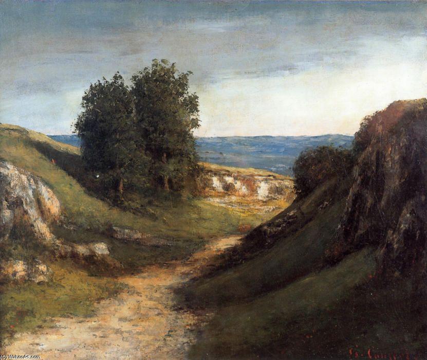 Paysage Guyere, huile sur toile de Gustave Courbet (1819-1877, France)   Tableaux de Gustave ...
