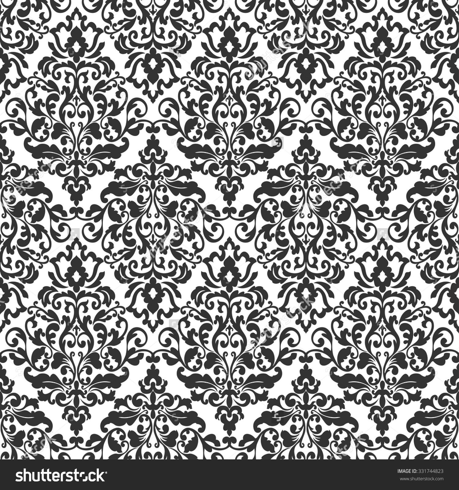 Wallpaper In Baroque Style Classic Ornament Damask PatternSeamless Vector Background
