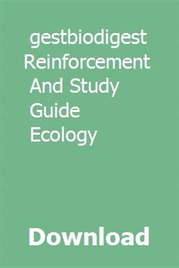 download biodigestbiodigest reinforcement and study guide ecology rh pinterest com