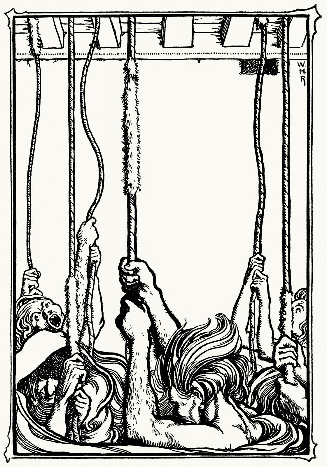 The bells. William Heath Robinson, from The poems of Edgar
