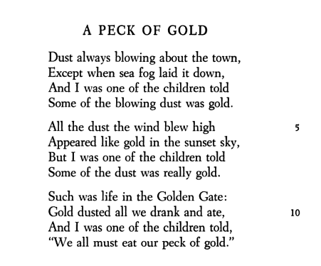 Peck Of Gold By Robert Frost Manifest Destiny Poetry