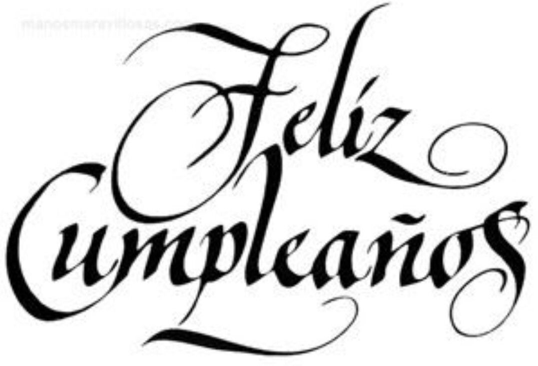 Pin by Claudia Brown on Happy B day Feliz cumpleaños letra, Cumpleaños, Feliz cumpleaños