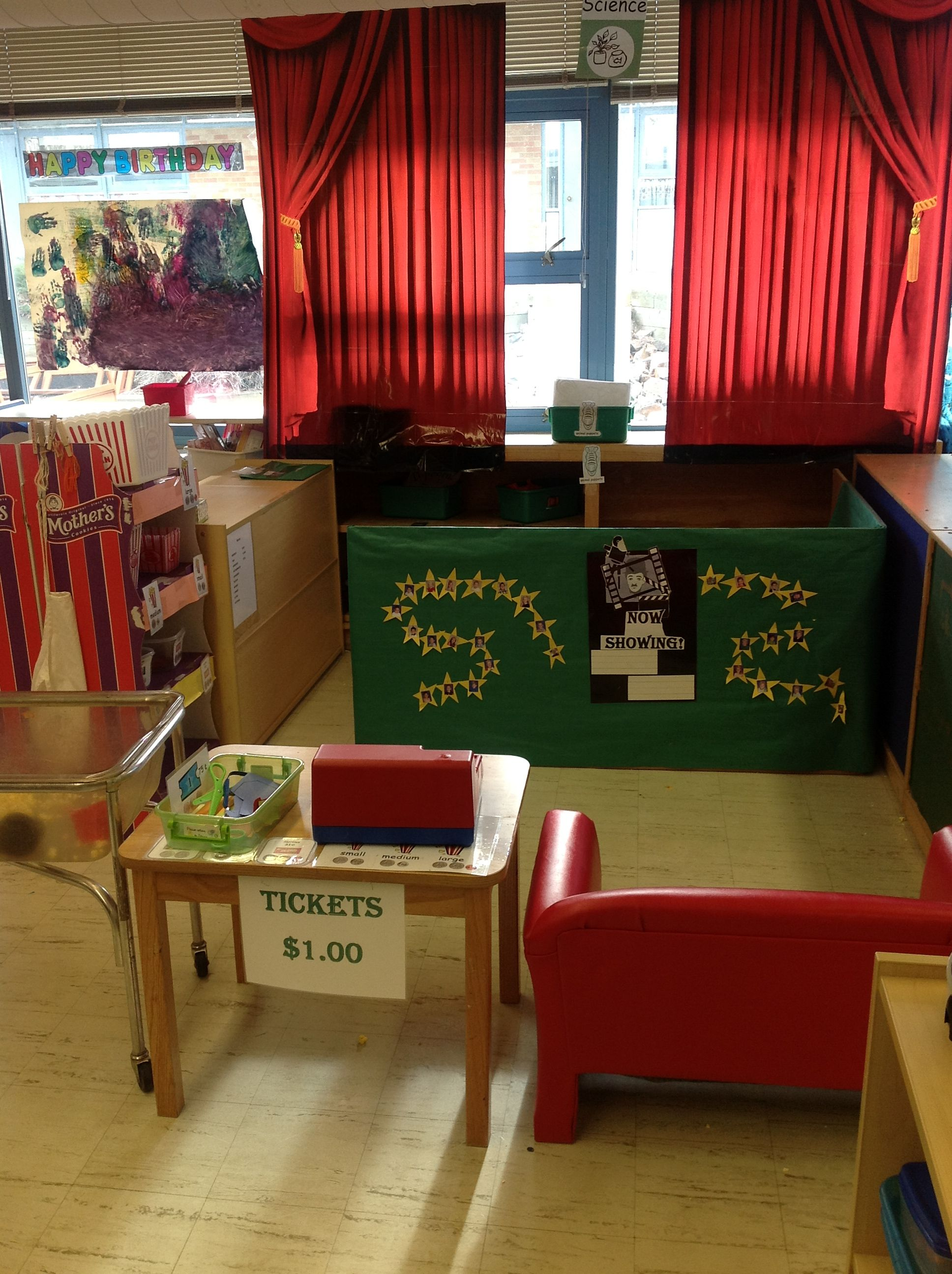 Maus Basteln Movie Theater At Pleasant View Preschool | Dramatic Play