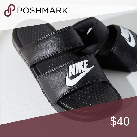 online store e53d3 2b715 Nike Double Strap Slides Brand: Nike • Size: 8 (I wear a ...