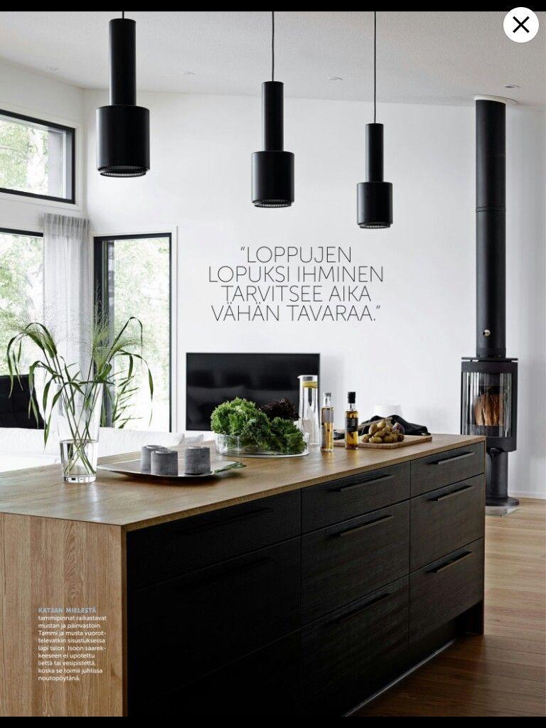 Musta ja tammi talo pinterest kitchen dining dining and kitchens