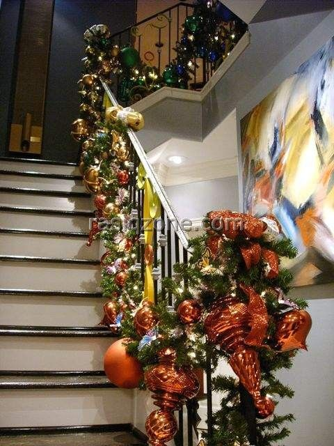 Image Detail For 2011 Christmas Stair Railing Decorations