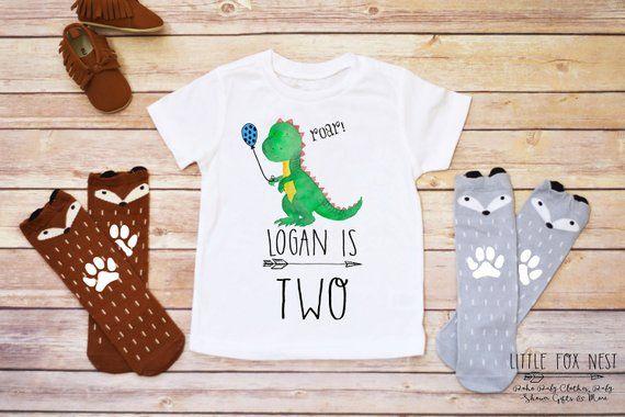 Birthday Boy Dinosaur Outfit Shirt Toddler Shir