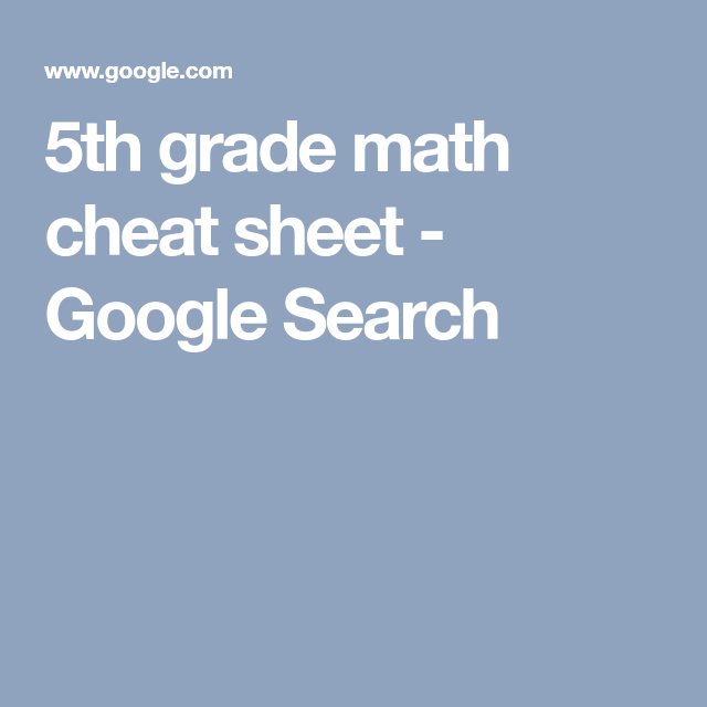5th grade math cheat sheet - Google Search | Math, Language, Art ...