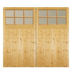 Side Hung Garage Door Pair H 1981mm W 2134mm Glazed External Doors External Doors Garage Doors