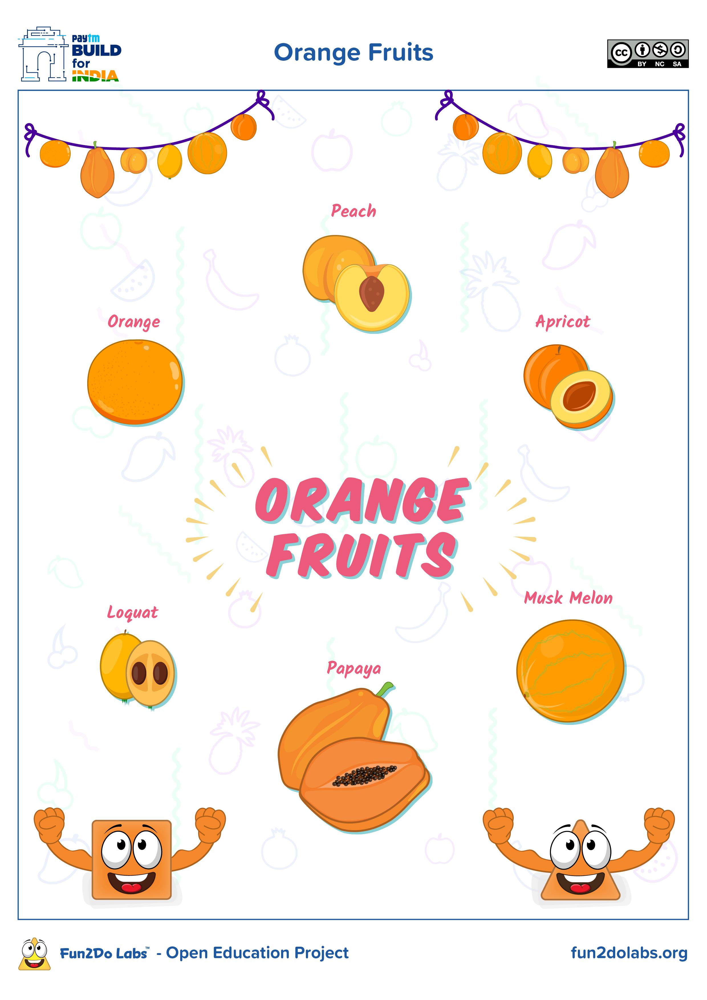Orange Fruits In 2021 Shapes Preschool Orange Fruit Fun Education [ 3508 x 2480 Pixel ]
