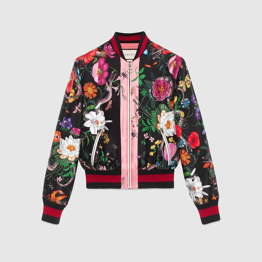 GUCCI Bomber Short Flower Patterns Casual Style Unisex 8
