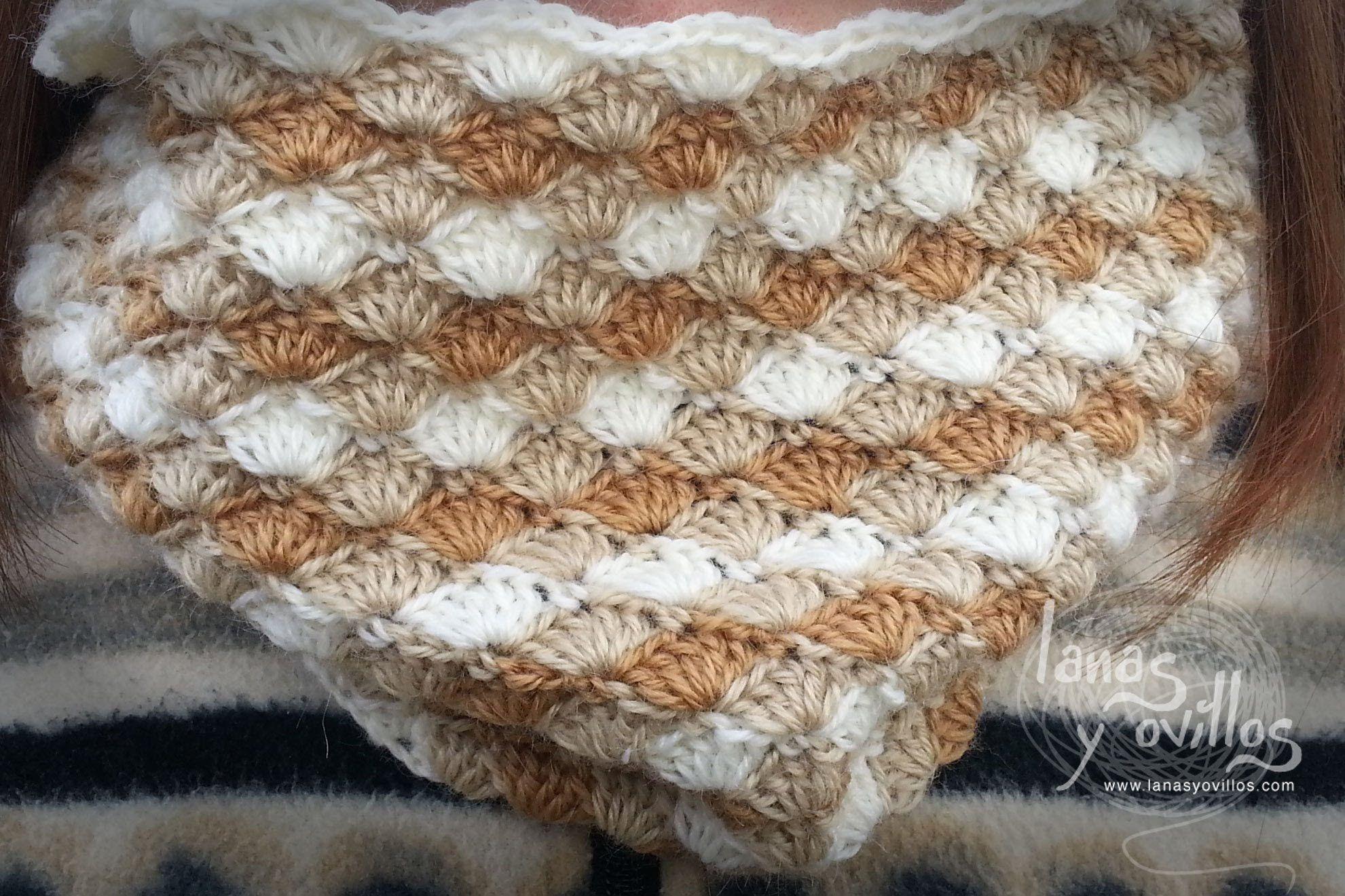 Tutorial Cuello o Bufanda Crochet Circle Scarf   diseños tejidos ...