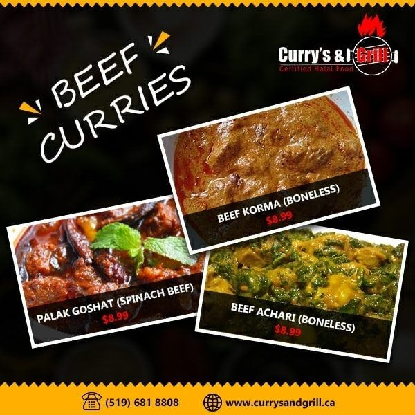 Indian Food Delivery In 2020 Indian Food Delivery Halal Recipes Beef Curry