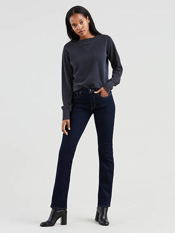 724™ High-waisted Straight Jeans - Blau