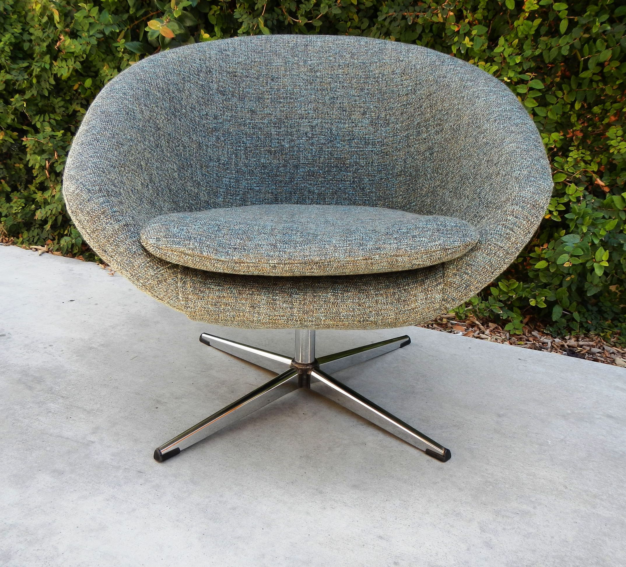 grey tweed overman pod chair Living Room Furniture